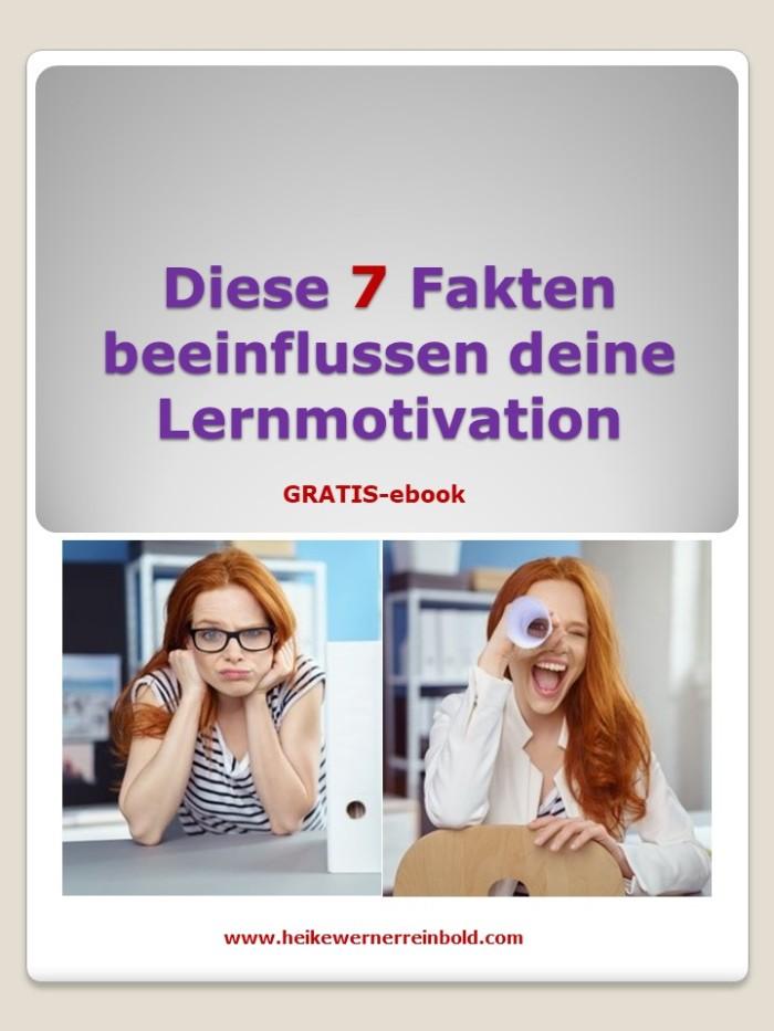 Sieben Fakten für deine Lernmotivation.Deckblatt